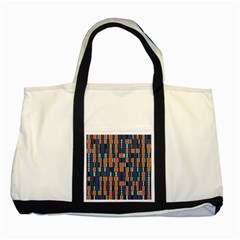 4 Colors Shapes                                    			two Tone Tote Bag by LalyLauraFLM