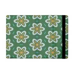 Yellow Flowers Pattern                                    			apple Ipad Mini Flip Case by LalyLauraFLM