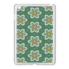 Yellow Flowers Pattern                                    			apple Ipad Mini Case (white) by LalyLauraFLM