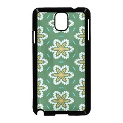 Yellow Flowers Pattern                                    			samsung Galaxy Note 3 Neo Hardshell Case (black) by LalyLauraFLM