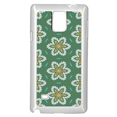 Yellow Flowers Pattern                                    			samsung Galaxy Note 4 Case (white) by LalyLauraFLM