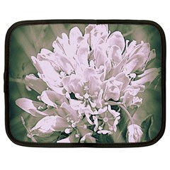 White Flower Netbook Case (large) by uniquedesignsbycassie