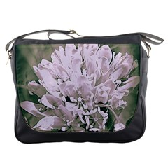 White Flower Messenger Bags by uniquedesignsbycassie