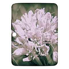 White Flower Samsung Galaxy Tab 3 (10 1 ) P5200 Hardshell Case  by uniquedesignsbycassie