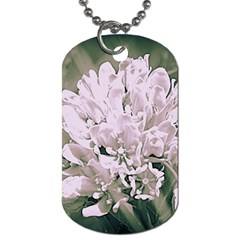 White Flower Dog Tag (one Side) by uniquedesignsbycassie