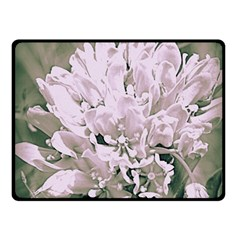 White Flower Fleece Blanket (small) by uniquedesignsbycassie
