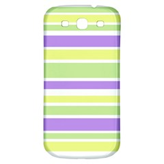 Yellow Purple Green Stripes Samsung Galaxy S3 S Iii Classic Hardshell Back Case by BrightVibesDesign
