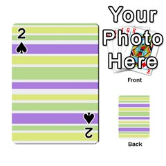 Yellow Purple Green Stripes Playing Cards 54 Designs