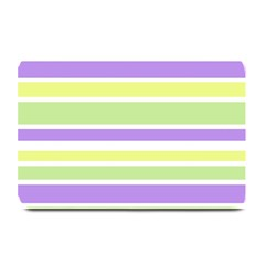Yellow Purple Green Stripes Plate Mats by BrightVibesDesign