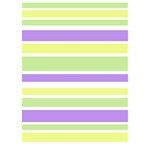Yellow Purple Green Stripes LOVE Bottom 3D Greeting Card (7x5)  Inside