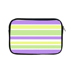 Yellow Purple Green Stripes Apple Ipad Mini Zipper Cases by BrightVibesDesign