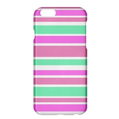 Pink Green Stripes Apple Iphone 6 Plus/6s Plus Hardshell Case by BrightVibesDesign