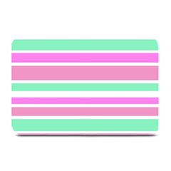 Pink Green Stripes Plate Mats by BrightVibesDesign