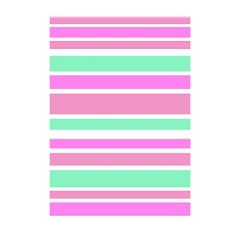 Pink Green Stripes Shower Curtain 48  X 72  (small)  by BrightVibesDesign