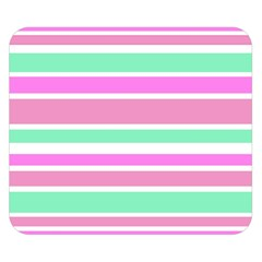Pink Green Stripes Double Sided Flano Blanket (small)  by BrightVibesDesign