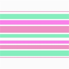 Pink Green Stripes Collage Prints by BrightVibesDesign
