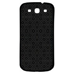 Black Perfect Stitch Samsung Galaxy S3 S Iii Classic Hardshell Back Case by MRTACPANS