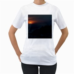 Sunset Scene Landscape Aerial View In Guayaquil From Cerro Del Carmen Women s T-shirt (white)  by dflcprints