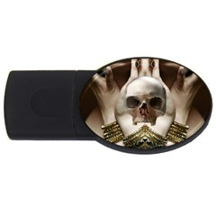 Skull Magic Usb Flash Drive Oval (2 Gb)  by icarusismartdesigns