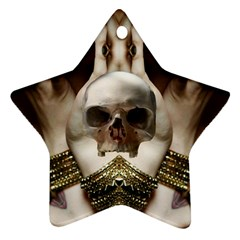 Skull Magic Star Ornament (two Sides)  by icarusismartdesigns