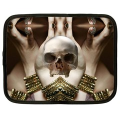 Skull Magic Netbook Case (large) by icarusismartdesigns