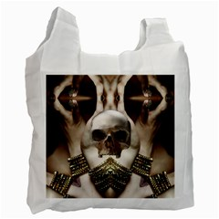 Skull Magic Recycle Bag (two Side)  by icarusismartdesigns