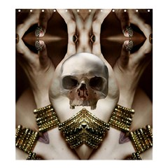 Skull Magic Shower Curtain 66  X 72  (large)  by icarusismartdesigns