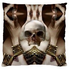 Skull Magic Large Cushion Case (two Sides) by icarusismartdesigns