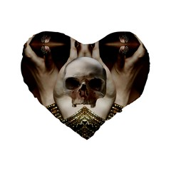 Skull Magic Standard 16  Premium Heart Shape Cushions by icarusismartdesigns