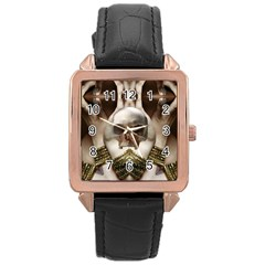 Skull Magic Rose Gold Leather Watch  by icarusismartdesigns