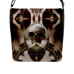 Skull Magic Flap Messenger Bag (l)  by icarusismartdesigns