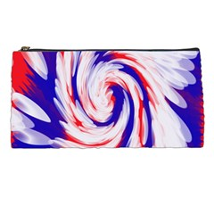 Groovy Red White Blue Swirl Pencil Cases by BrightVibesDesign