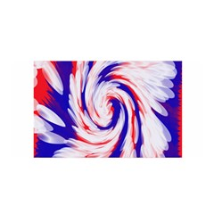 Groovy Red White Blue Swirl Satin Wrap by BrightVibesDesign