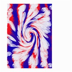 Groovy Red White Blue Swirl Small Garden Flag (two Sides) by BrightVibesDesign