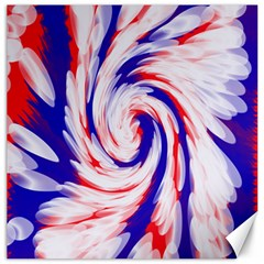 Groovy Red White Blue Swirl Canvas 20  X 20   by BrightVibesDesign