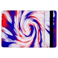 Groovy Red White Blue Swirl Ipad Air 2 Flip by BrightVibesDesign