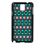 Fancy Teal Red Pattern Samsung Galaxy Note 3 N9005 Case (Black) Front