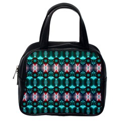 Fancy Teal Red Pattern Classic Handbags (one Side) by BrightVibesDesign
