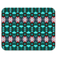 Fancy Teal Red Pattern Double Sided Flano Blanket (medium)  by BrightVibesDesign