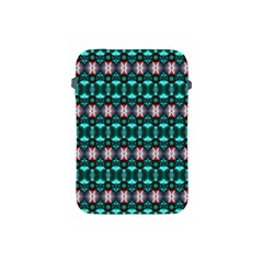 Fancy Teal Red Pattern Apple Ipad Mini Protective Soft Cases by BrightVibesDesign