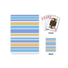 Blue Yellow Stripes Playing Cards (mini)  by BrightVibesDesign