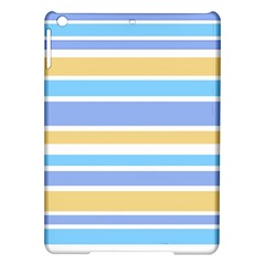 Blue Yellow Stripes Ipad Air Hardshell Cases by BrightVibesDesign