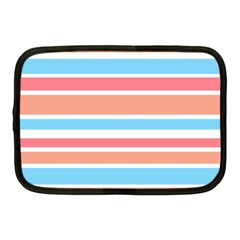 Orange Blue Stripes Netbook Case (medium)  by BrightVibesDesign