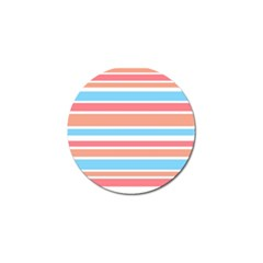 Orange Blue Stripes Golf Ball Marker (10 Pack) by BrightVibesDesign