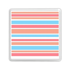 Orange Blue Stripes Memory Card Reader (square)  by BrightVibesDesign