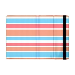 Orange Blue Stripes Ipad Mini 2 Flip Cases by BrightVibesDesign