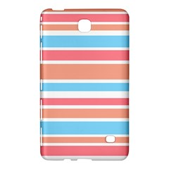 Orange Blue Stripes Samsung Galaxy Tab 4 (7 ) Hardshell Case  by BrightVibesDesign