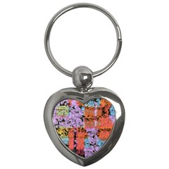Paint Texture                                     			key Chain (heart) by LalyLauraFLM