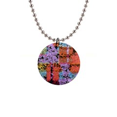 Paint Texture                                     			1  Button Necklace by LalyLauraFLM