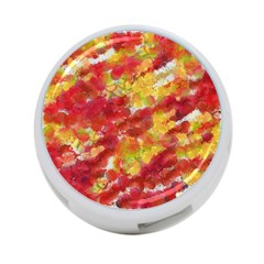 Colorful Splatters                                      			4 Port Usb Hub (one Side) by LalyLauraFLM